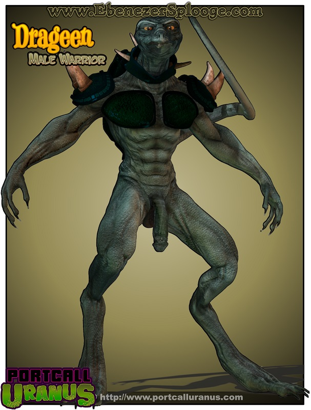 monster hentai cock lizard man